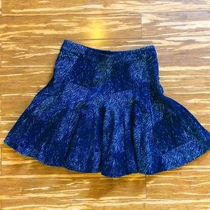 Fit and flare heavy mini skirt